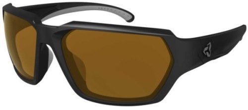 Ryders Face Anti-Fog Glasses Black Matte - Brown Lens Anti-fog
