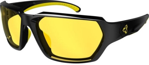 Ryders Face Anti-Fog Glasses Black-Yellow / Yellow Lens Anti-fog