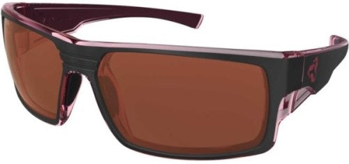 Ryders Thorn Anti-Fog Glasses Black-Cranberry / Rose Lens Anti-fog