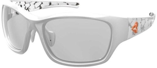 Ryders Khyber Anti-Fog Glasses White Decal / Clear Lens Anti-fog