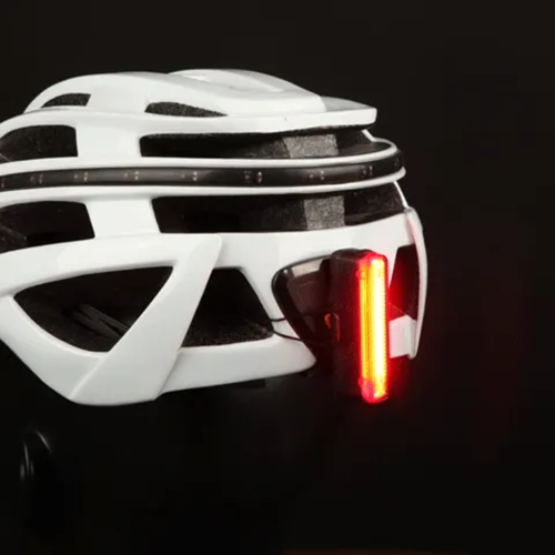 Maghic Shine SeeMee30 Rear Light on Helmet