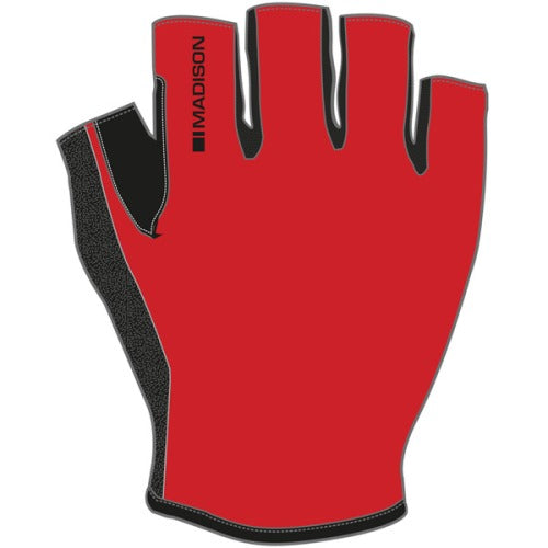 Madison Track Mens Red Mitts Front