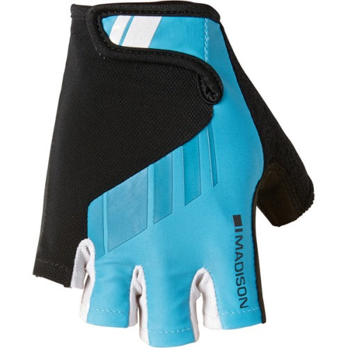 Madison Peloton Mens Cyan Blue Mitts Front