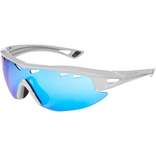Madison Recon Glasses Gloss Cloud Grey Frame, Blue Mirror Lens