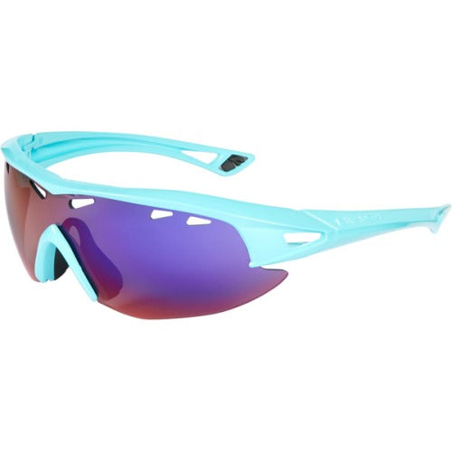 Madison Recon Glasses Gloss Blue Curaco Frame, Purple Blue Mirror Lens