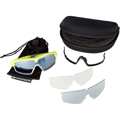 Madison Code Breaker Glasses 3 Pack - Gloss Lime Punch, Silver Mirror/Smoke/Clear Lens
