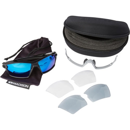 Madison Engage 3 Lens Kit Gloss Black Frame - Blue Mirror/Smoke/Clear Lens