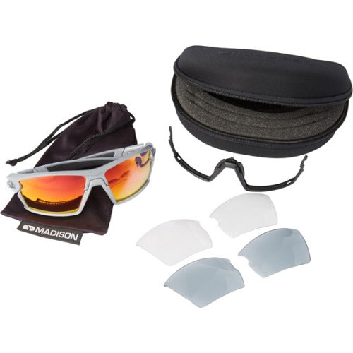 Madison Engage 3 Lens Kit Gloss Cloud Grey Frame - Pink Mirror/Smoke/Clear Lens