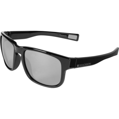 Madison Range Glasses Gloss Black Over Matt Black Frame - Silver Mirror Lens