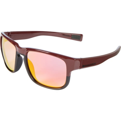Madison Range Glasses Gloss Burgundy Over Matt Black Frame - Pink Orange Mirror Lens