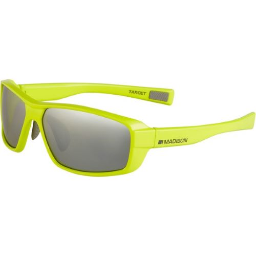 Madison Target Glasses Gloss Lime Punch Frame, Silver Mirror Lens