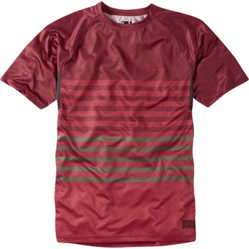 Madison Roam Mens Red/Red Short Sleeve Jersey Front