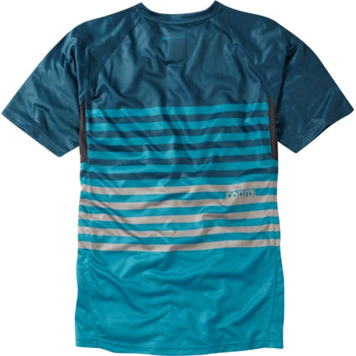 Madison Roam Mens Blue/Blue Short Sleeve Jersey Rear