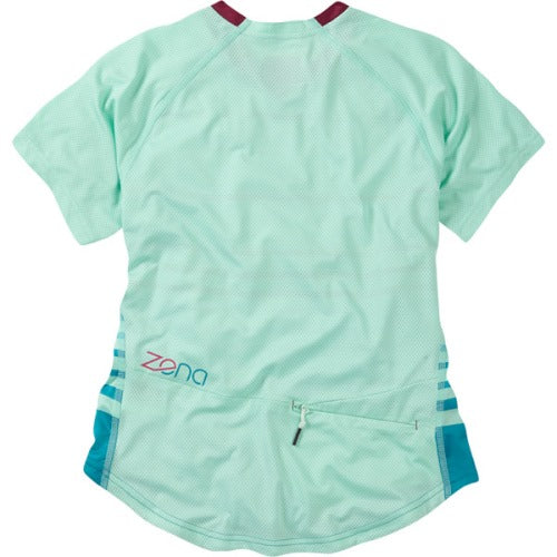 Madison Zena Womens Short Sleeve Sea Green Jersey Rear
