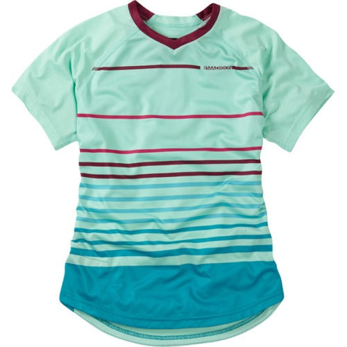 Madison Zena Womens Short Sleeve Sea Green Jersey Front