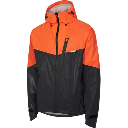 Madison Stellar Mens Reflective Black/Chilli Red Jacket Front