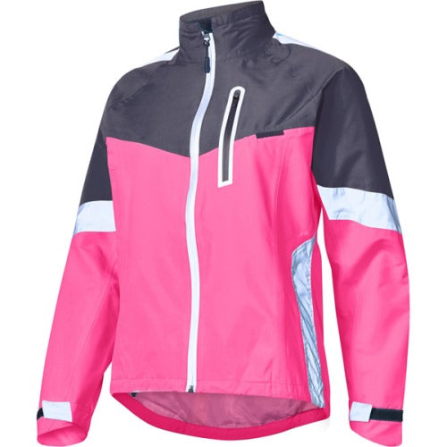Madison Protec Womens Pink Glo/Dark Shadow Jacket Front