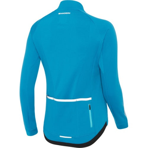 Madison Sportive Womens Softshell Blue Jacket Rear