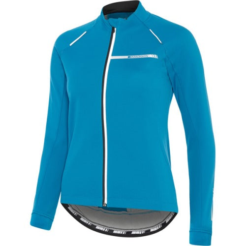 Madison Sportive Womens Softshell Blue Jacket Front