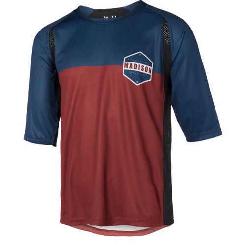 Madison Alpine Mens 3/4 Sleeve Ink Navy/Andorra Grey Jersey