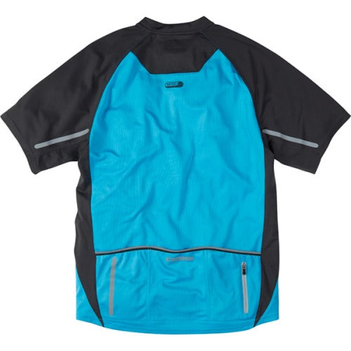 Madison Stellar Mens Short Sleeve Atomic Blue Jersey  Rear