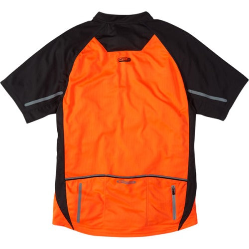 Madison Stellar Mens Short Sleeve Shocking Orange Jersey Rear