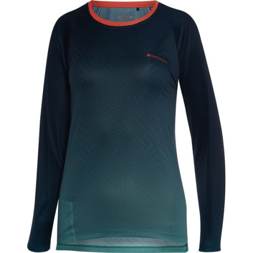 Madison Flux Womens Long Sleeve Jersey Diamonds Navy Blue / Blue Front