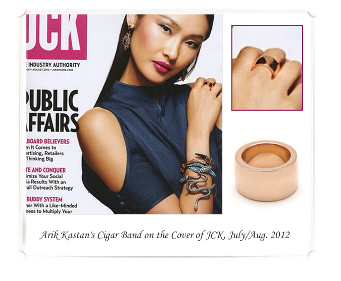 Arik Kastan's Cigar Band on cover of July/August 2012 JCK.