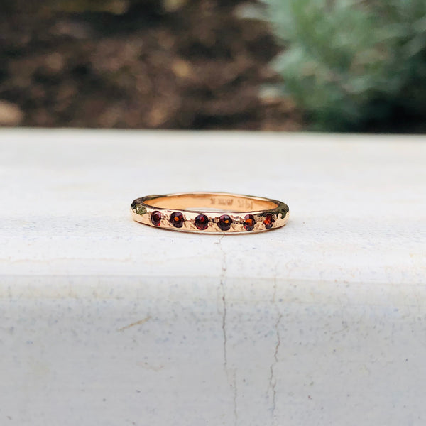 Micro Stacking Ring - Garnet