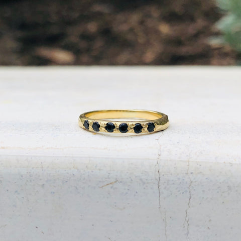 Micro Stacking Ring - Onyx - YG