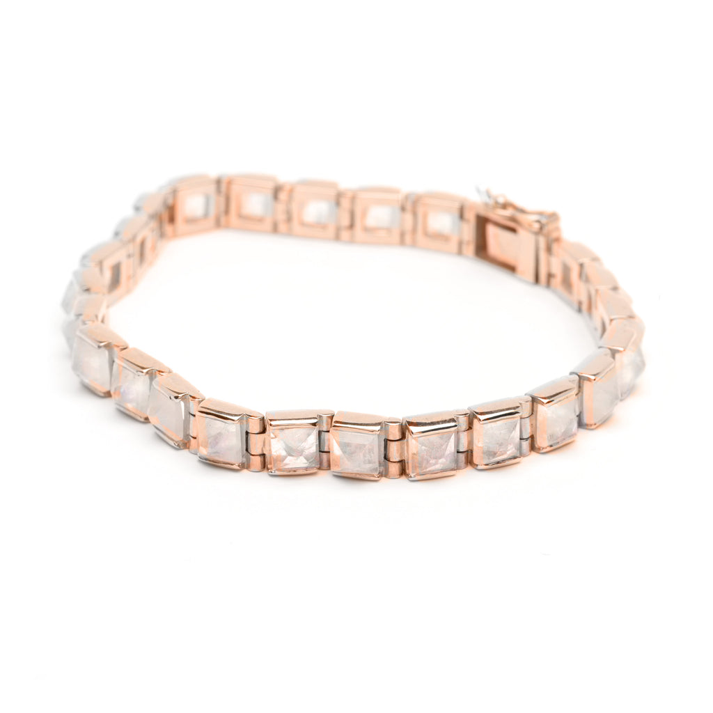Pyramid Tennis Bracelet - Moonstone