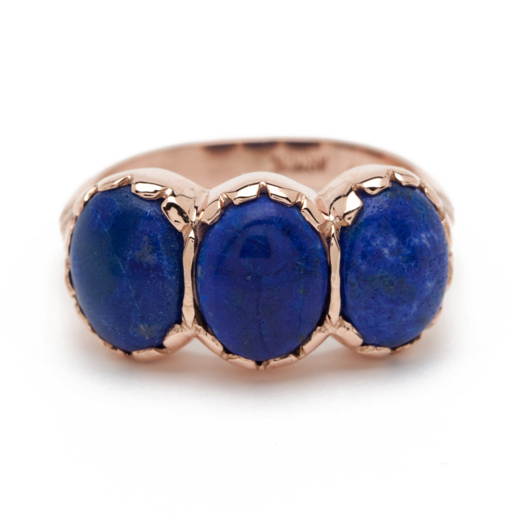 Signature Three-Stone Ring - Lapis