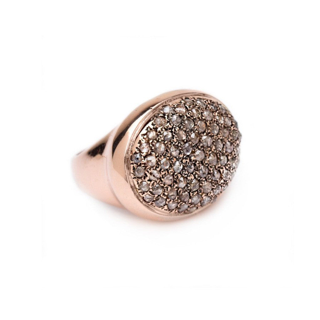 Cobblestone Ring - Rose Cut Diamonds