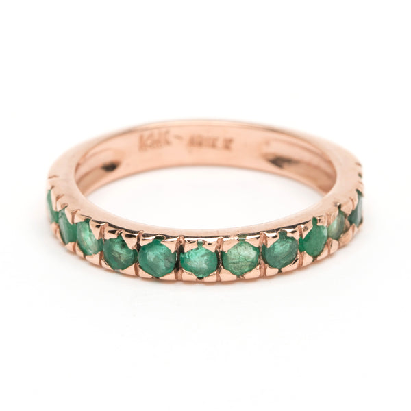 Thin Stacking Ring - Emerald