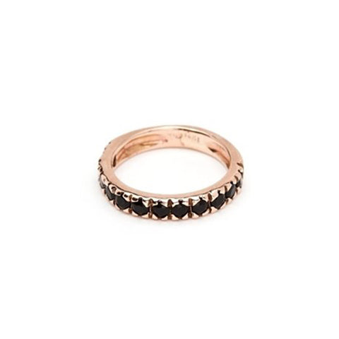 Thin Stacking Ring - Onyx