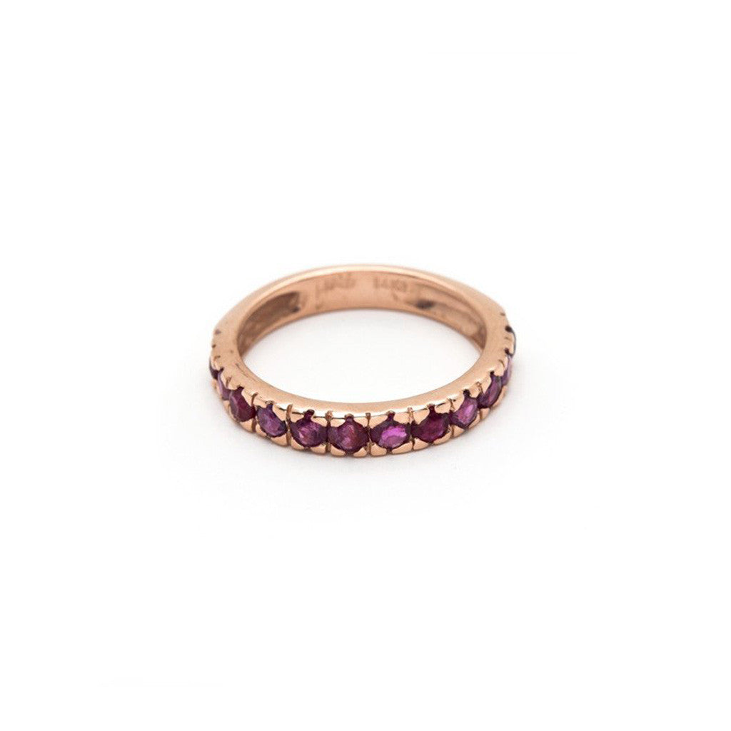 Thin Stacking Ring - Ruby