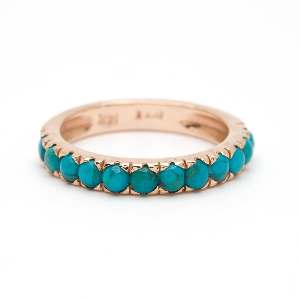 Thin Stacking Ring - Turquoise
