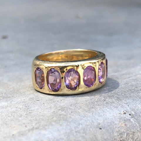 Gypsy Cigar Band - Amethyst - YG