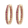 Medium Oval Hoops - Ruby YG