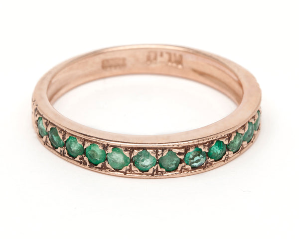 Channel Stacking Ring - Emerald