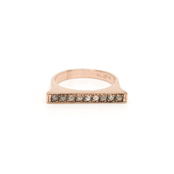 Bar Stacking Ring - Diamond