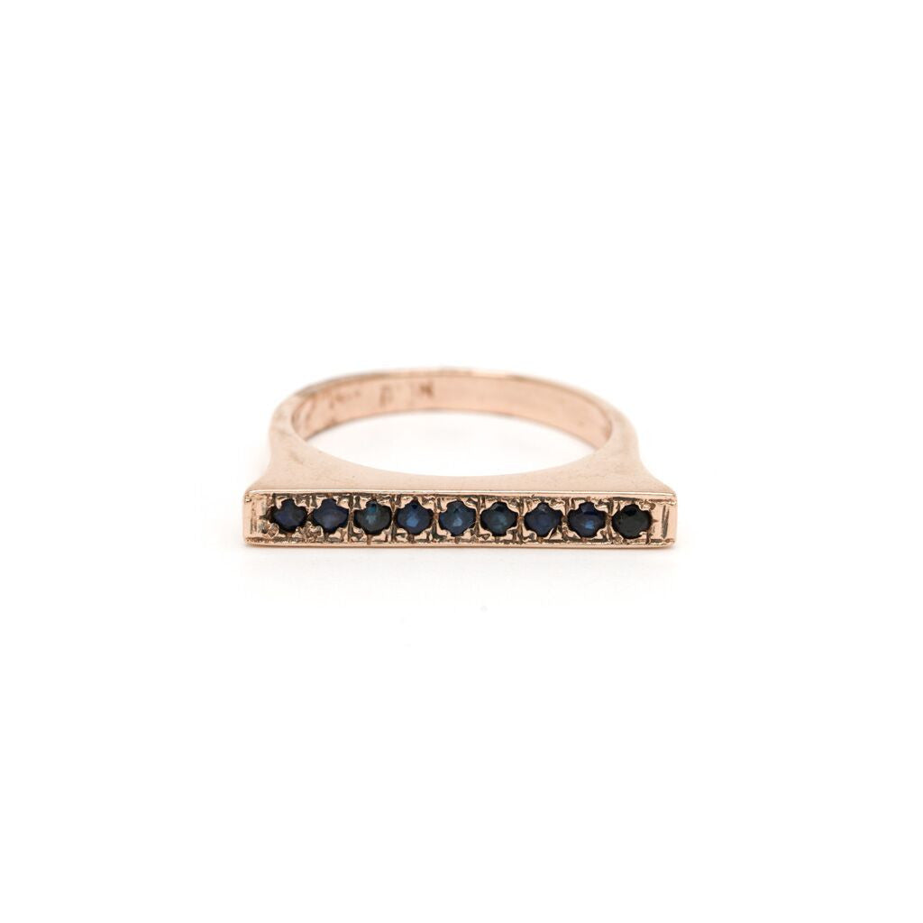 Bar Stacking Ring - Sapphire