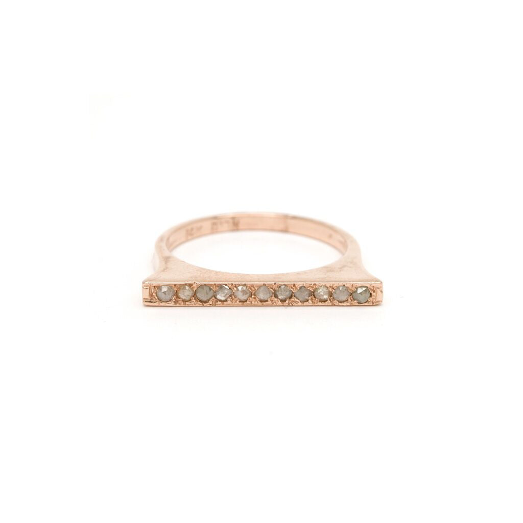 Thin Bar Stacking Ring - Diamond