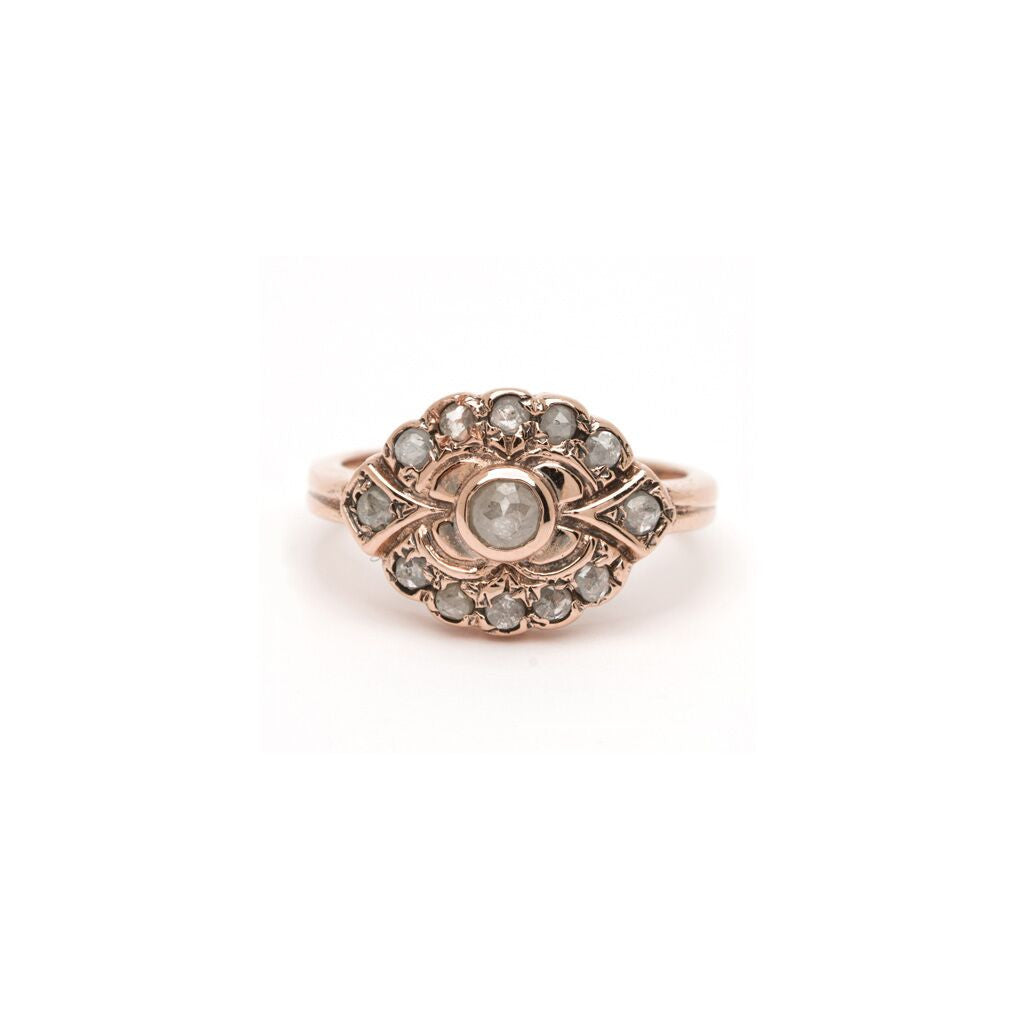 Deco River Ring - Diamond