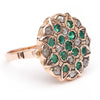 Grande Fleur Ring - Emerald and Diamond