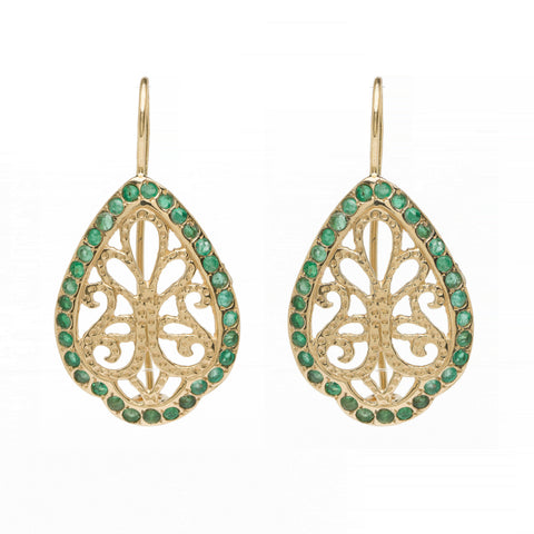 Arabesque Drops - Emerald YG