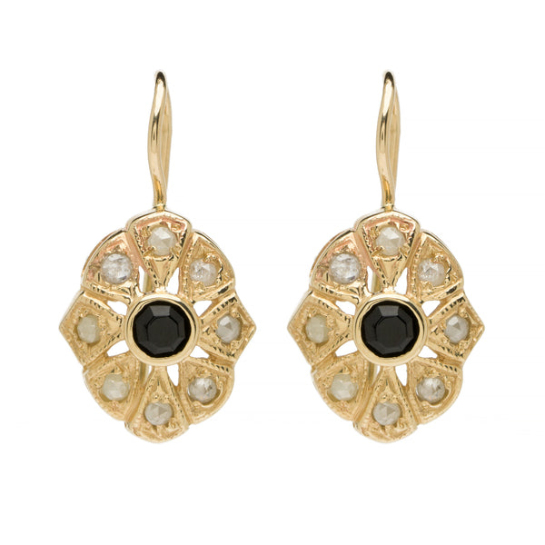 Jasmine Drops - Onyx with Diamond YG