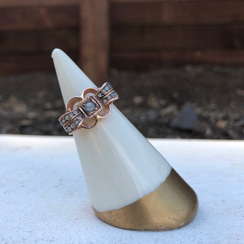 Edwardian Ribbon Ring - Diamond