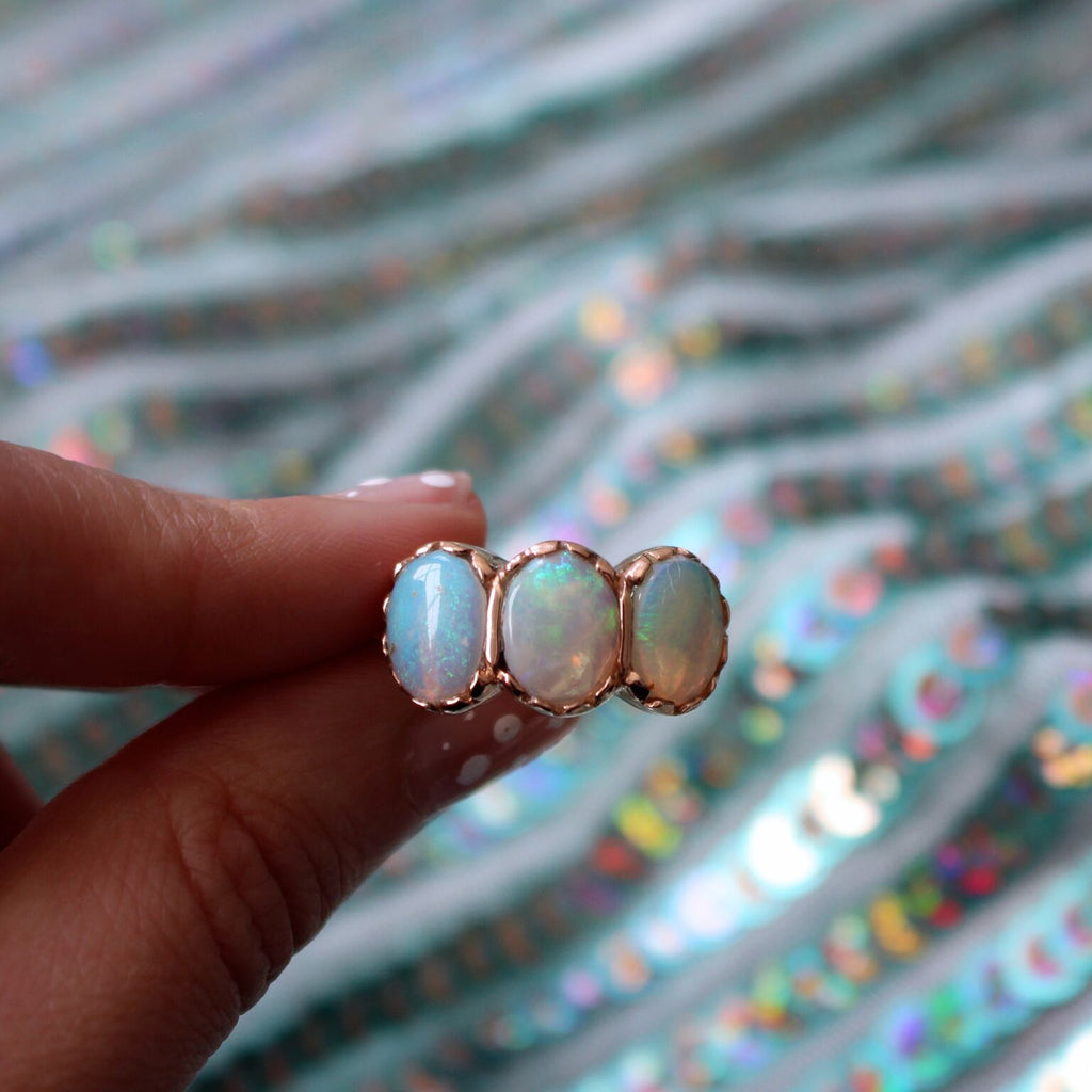 Signature Three-Stone Ring - Opals