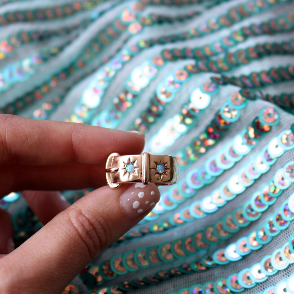 Buckle Ring - Opals